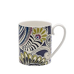 Denby - White 'Monsoon Cosmic' mug