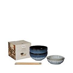 Denby - 'Halo' 7 piece Asian serving bowl set