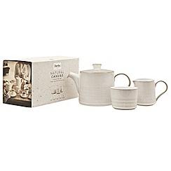Denby - Glazed 'Natural Canvas' 3 piece tea set