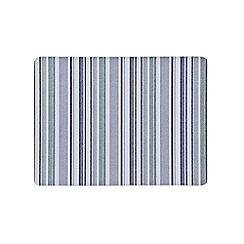 Denby - Set of 6 blue stripe placemats