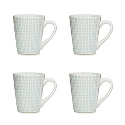 Home Collection - Set of four blue debossed mugs