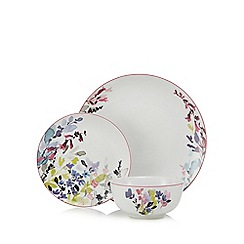 At home with Ashley Thomas - Multi-coloured 'Bloom' twelve piece floral dinner set