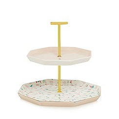 Home Collection - Multi-coloured 'Cosmo' two tiered party stacker