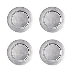 Creative Tops - Set of 4 silver charger plates