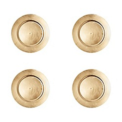 Creative Tops - Set of 4 gold charger plates