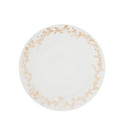 Home Collection - White foliage dinner plate