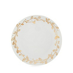 Home Collection - White foliage side plate
