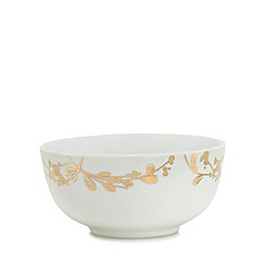 Home Collection - White foliage print cereal bowl
