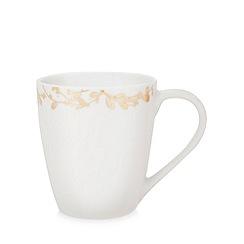 Home Collection - White foliage print mug