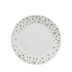 Home Collection - White star print side plate