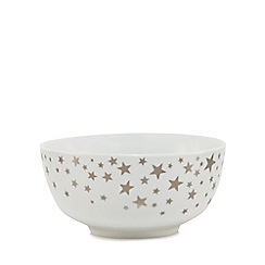 Home Collection - White star print cereal bowl