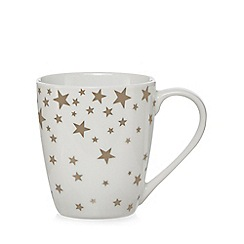 Home Collection - White star print mug