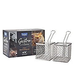 Denby - Stainless steel 'Gastro' 2piece mini fry basket kit