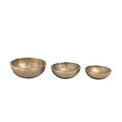 Nkuku - Jahi medium gold bowl