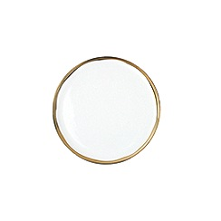 Canvas Home - White metallic glazed 'Dauville' side plate