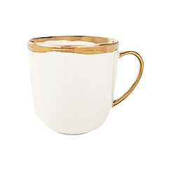 Canvas Home - White metallic glazed 'Dauville' mug