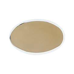 Canvas Home - Small white metallic glazed 'Dauville' serving platter