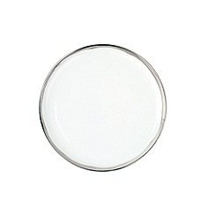 Canvas Home - White metallic glazing 'Dauville' plate