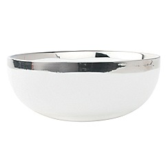 Canvas Home - White metallic glazing 'Dauville' cereal bowl