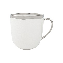 Canvas Home - White metallic glazing 'Dauville' mug