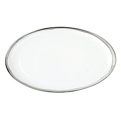Canvas Home - Large White metallic glazing 'Dauville' serving platter