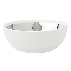 Canvas Home - Extra large white metallic glazing 'Dauville' bowl