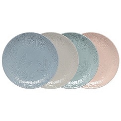 Denby - Set of 4 'Monsoon Gather' medium plates