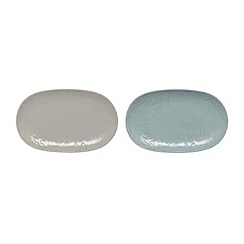 Denby - Set of 2 'Monsoon Gather' small platters