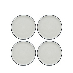 Home Collection Basics - Set of four navy dinner plates