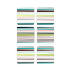 Ben de Lisi Home - Set of six multi-coloured striped print coasters