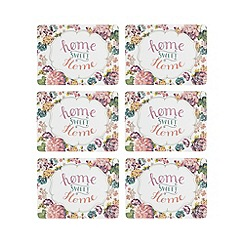 At home with Ashley Thomas - Set of six multi-coloured floral placemats