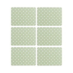 At home with Ashley Thomas - Pack of 6 polka dot print placemats