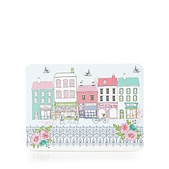 At home with Ashley Thomas - Pack of 6 pale blue street print placemats