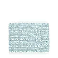 Home Collection Basics - Set of six light blue sea foam print table mats