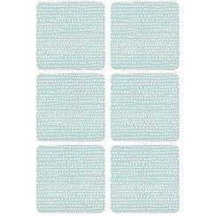 Home Collection Basics - Set of six light blue sea foam print coasters
