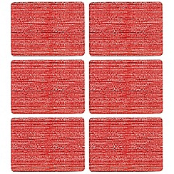 Home Collection Basics - Set of six red print table mats