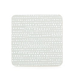 Home Collection Basics - Set of six grey sea foam print coasters