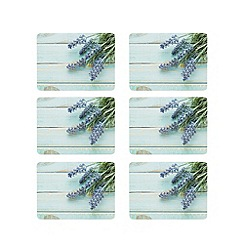 Home Collection - Pack of 6 turquoise lavender print placemats