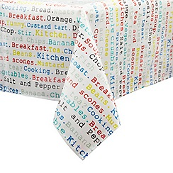 Ben de Lisi Home - Multi-coloured food print medium tablecloth