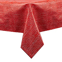 Debenhams - Red spotted print medium tablecloth
