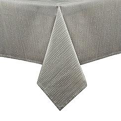 Debenhams - Grey spotted print medium tablecloth