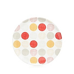 Home Collection Basics - Red spotted print tray
