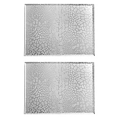 Star by Julien Macdonald - Set of two silver leopard print placemats