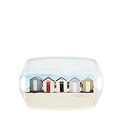Debenhams - White beach hut print large tray