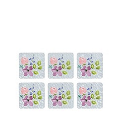 At home with Ashley Thomas - Set of six floral print coasters
