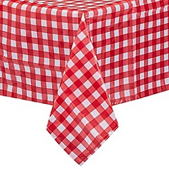 Debenhams - Red checked table cloth