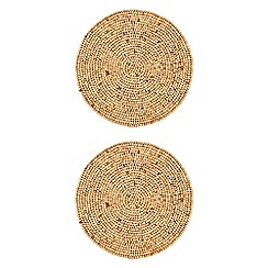 RJR.John Rocha - Pack of 2 wooden bead placemats