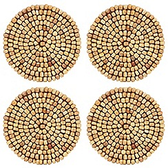 RJR.John Rocha - Pack of 4 brown beaded coasters