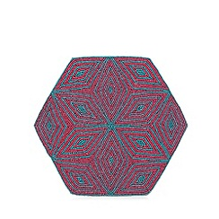 Butterfly Home by Matthew Williamson - Pink and turquoise diamond beaded placemat