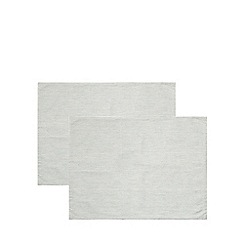 J by Jasper Conran - Pack of two washed cotton stripe printed placemats
